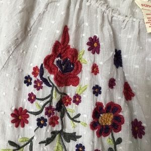 Sundance embroidered cotton peasant top size XS